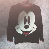 Baby Gap Toddler Boys Black Mickey Mouse Sweater Size 3 Photo