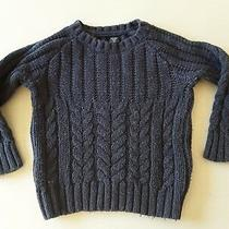 Baby Gap Toddler Boys Cable Knit Crew Neck Sweater Size 2 Years Photo