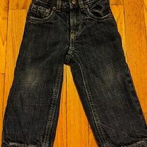 Baby Gap Toddler Boys Flannel Lined Adjustable Waist Jeans Size 12-18 Months Photo