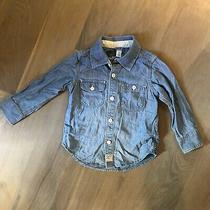 Baby Gap Toddler Boys Girls Denim Shirt Size 3t Photo