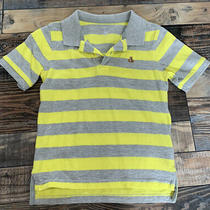 Baby Gap Toddler Boys Yellow Grey Stripe Polo Shirt Size 4 Years Vguc Photo
