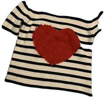 Baby Gap Toddler Girl Apple Striped Nautical Sweater  Size 4 Fall Winter Photo