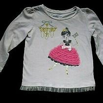 Baby Gap Toddler Girl Beige Long Sleeve Shirt Tulle Fairy Princess Size 3t  Photo