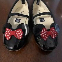 Baby Gap Toddler Girl Mini Mouse Shoes Size 8 Black Photo