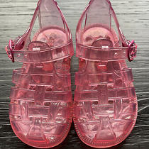 Baby Gap Toddler Girl Pink Jelly Sandals Size 6 Photo