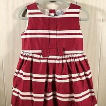 Baby Gap Toddler Girl Red Holiday Party Dress Size 12-18 Months Euc Photo