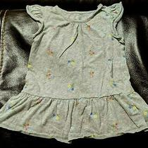 Baby Gaptoddler Girl Ruffled Grey Floral Casual Topteeshirtblouse3t3 Years Photo