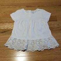 Baby Gap Toddler Girl Short Sleeve Shirt White Ivory Eyelet Size 4 Nwot Photo