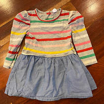 Baby Gap Toddler Girl Striped Lined Dress Size 2t Photo