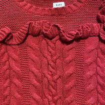 Baby Gap Toddler Girls 12-18 Months Red Long Sleeve Sweater Photo