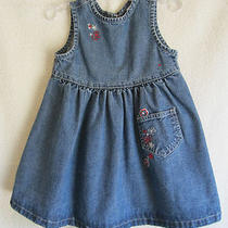 Baby Gap Toddler Girls 2t Denim Sun Dress Guc Photo