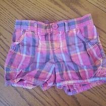 Baby Gap Toddler Girls Pink Plaid Shorts Size 5 Years Photo