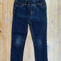 Baby Gap Toddler Little Girls Skinny Fit Size 3 Years Pull on Dark Blue Jeans  Photo