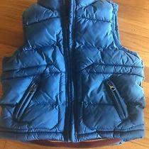 Baby Gap Toddler Turquoise Blue Puffy Zip Front Vest  Size 2 Years  Euc Photo