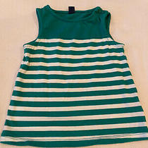 Baby Gap Top Size Toddler 4 Years Green White Stripe Photo