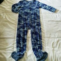Baby Gap Unisex Baby One Piece Blue  Camo Fleece Long Sleeve Size 4 Years Photo