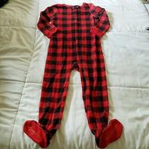 Baby Gap Unisex Baby One Piece Red Black  Fleece Long Sleeve Size 4 Years Photo