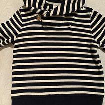 Baby Gap White Navy Blue Stripe Knit Sweater Shawl Collar Button 2t Euc Nautical Photo