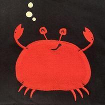 Baby Gap White Red Navy Blue Sweatshirt With Red Pocket Crab 18-24m Euc Photo