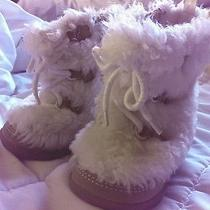 Baby Gap White Snow Boots Sz 4 Photo