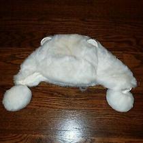 Baby Gap Winter Off White Fur Hat Girls 12-18 Months Photo