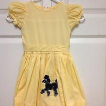 Baby Gap Yellow Check Gingham 50s Retro Pleated Dress Poodle Sock Hop 3-4 Yrs  Photo