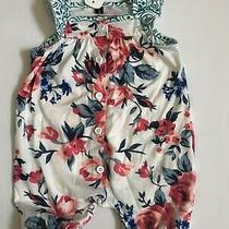Baby Girl Boutique Romper Floral Size 6-9 Months New Photo