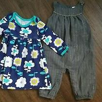 Baby Girl Clothes 6-12 Months Lot Old Navy Dress and Baby Gap Romper Photo