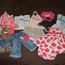 Baby Girl Clothing Lot 6-12 Months 8 Outfits All With Headbands Baby Nay Gap Photo