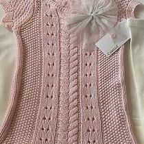 Baby Girl Crochet Pink Dress With Tights Size12 Months  Photo