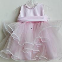 Baby Girl Custom Created Christie Helene Pink Flower Girl Dress Size 18 Months Photo