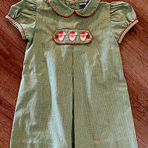 Baby Girl Embroidered Santa Christmas Dress Orient Express 6 Months Green White Photo