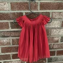 Baby Girl Gap Red Pleated Dress 0-3 Months Christmas Holiday Vguc Photo