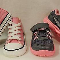 Baby Girl Infant  C/t Allstar H Pink (4) Infant Nike Lunarglide Pink/gray (5) Photo