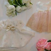 Baby Girl Newborn Fancy Holiday Dress Ivory Blush Pink Clothes Outfit Lot Reborn Photo