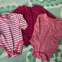 Baby Girl Pink Long Sleeve One  Piece 3-6 - Gap Old Navy and Arizona Jeans Photo