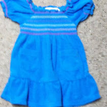 Baby Girl's 6/9 Mo. Aqua Blue Koala Kids Terrycloth Bathing Suit Cover Up Dress Photo
