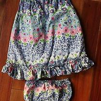 Baby Girl's Bright Color Floral Dress With Bloomers Baby Gap Size 12-18 Months Photo