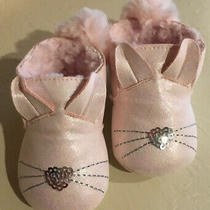 Baby Girls Nicole Miller Stepping Stones Ny   Pink Bunny Shoes  6-12 Months Photo
