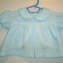 Baby Girl's Vintage 1960's Aqua  Summer Dress Top  9m Photo