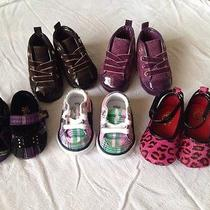 Baby Girl Shoes Sz 1 Lot of 5 Brand New Guess Polo Ralph Lauren Photo