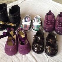 Baby Girl Shoes Sz 1 Lot of 5 Brand New Polo Ralph Lauren Guess Photo
