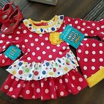 Baby Girl Spirit Halloween Clown Dress Baby Gap Shoe Clothes Size 3-6 Months Lot Photo