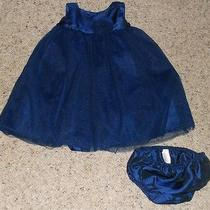 Baby Girls' 12 Mo. Blue Sleeveless Taffeta Camilla Dress Photo