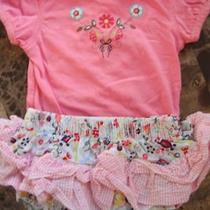Baby Girls 2 Piece Hooray by Cynthia Rowley Outfit Skirt Euc Fancy 0-3 Months Photo
