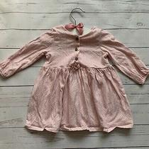 Baby Girls 3-6 Months - Dress - Next Pink White Blush Geometric Long Sleeve Photo