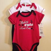 Baby Girls Baby Phat 3pc Set Sz 6-9 Months Cotton Blend Multi Color Short Sleeve Photo