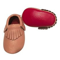 Baby Girls Blush Red Soft Sole Faux Leather Tassel Moccasin Crib Shoes 3-6m Photo