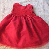 Baby Girls Carter's 9 Months Christmas Dress Holiday Velvet Red Photo