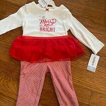 Baby Girls Carters 9 Months Christmas Holiday Set Red Tutu Leggings Bodysuit Photo